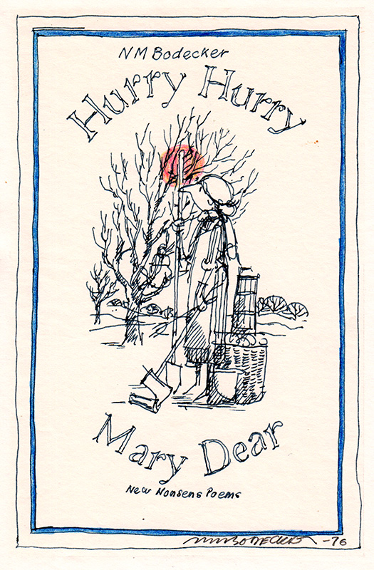 Hurry Hurry Mary Dear Cover Study