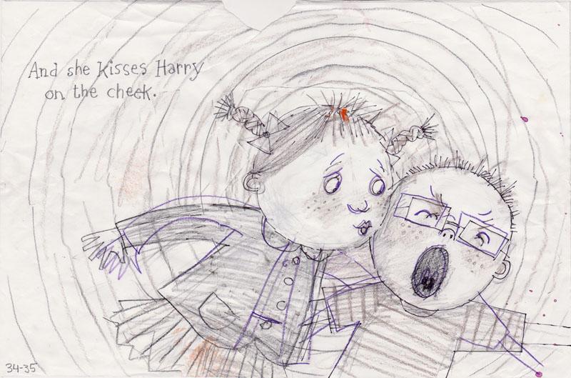 She Kisses Harry on the Cheek