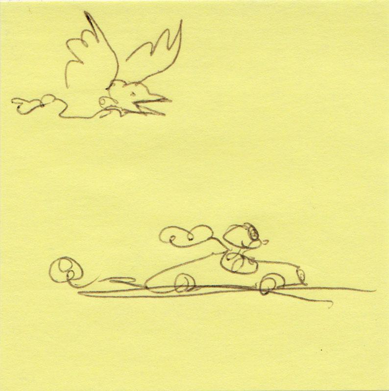Post-it Bird