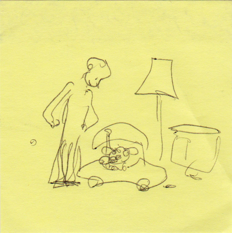 Post-it Dad Looking Down