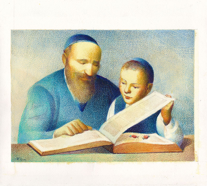 Abraham Found Candies Hidden Between Pages of the Torah