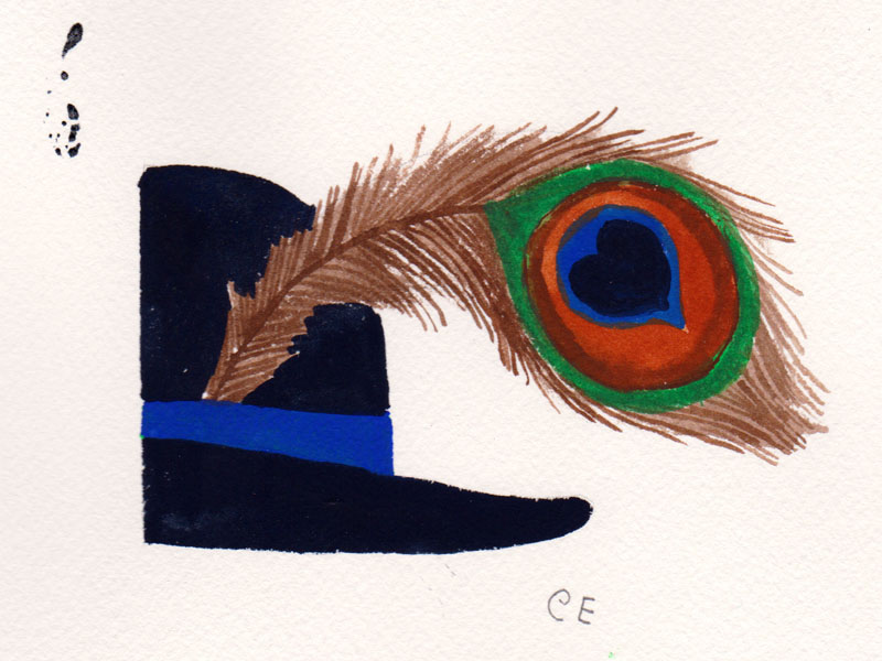 Half Hat with Feather Study I