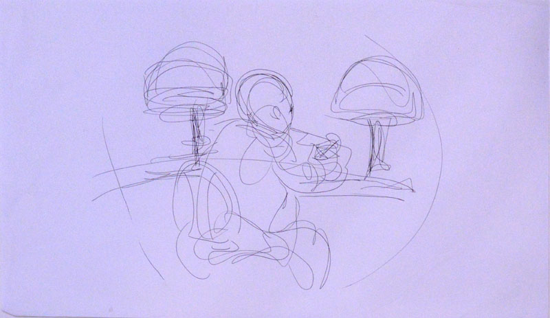 Sitting at the Counter Study
