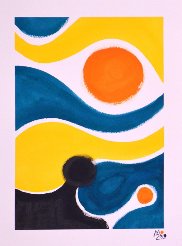Liquid Strata Series (Orange)