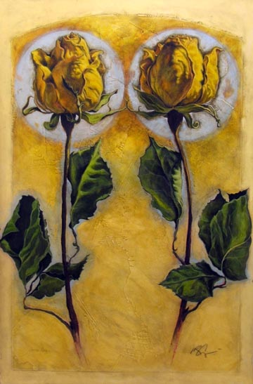 Two Yellow Roses
